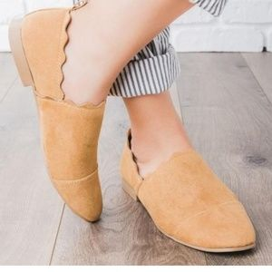 Shoes - Scalloped Loafer Shoes